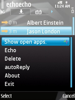 autoreply context menu