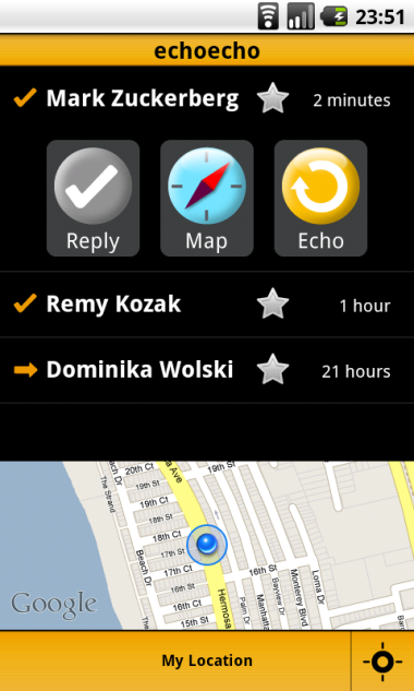 android inbox minimap open