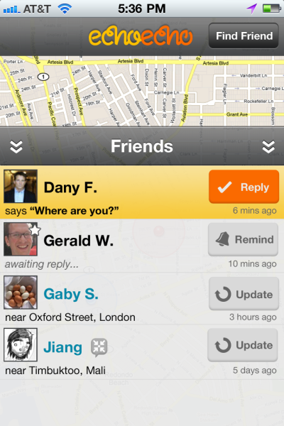 main map screen